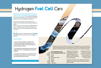 A class on Enviromental Science and The introduction of the Hydrogen Fuel Cell Car